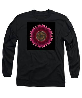 Sunflower Moulin Rouge I Flower Mandala Long Sleeve T-Shirt