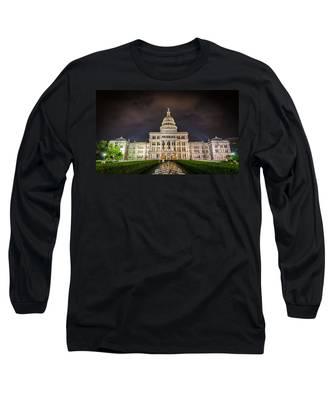 Texas Capitol Building Long Sleeve T-Shirt