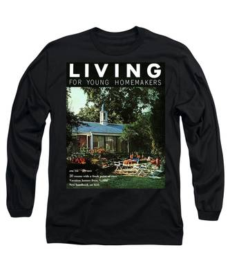 The Exterior Of A House And Patio Furniture Long Sleeve T-Shirt