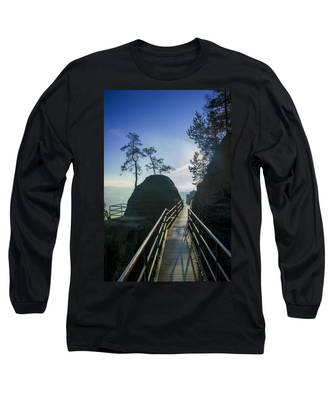 Way Into The Light On Neurathen Castle Long Sleeve T-Shirt