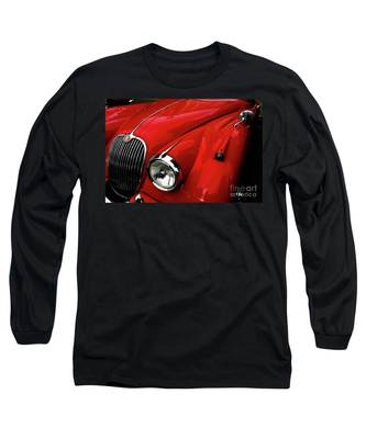 Red Jaguar Long Sleeve T-Shirt