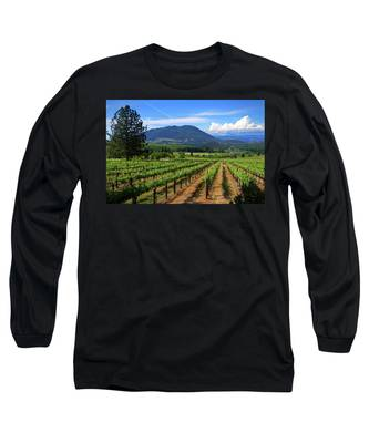 As Far As The Eye Can See Long Sleeve T-Shirt by Skip Hunt