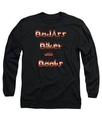 Badass Biker Boobs Long Sleeve T-Shirt