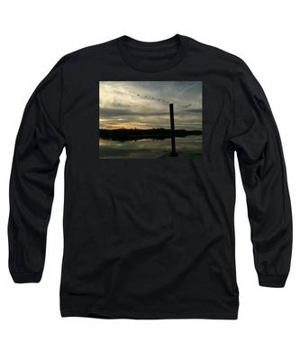 Birds In Line Long Sleeve T-Shirt