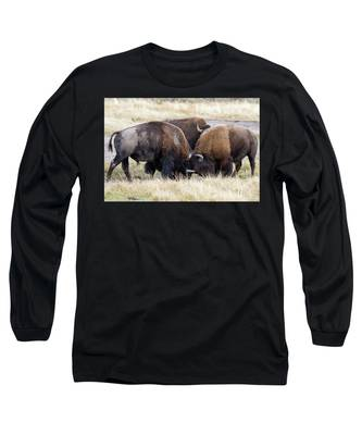 Bison Fight Long Sleeve T-Shirt