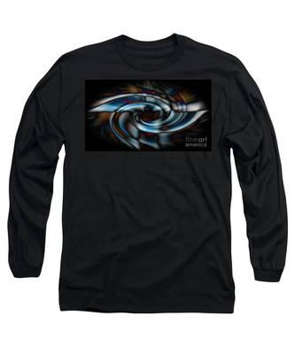 Black And Blue Long Sleeve T-Shirt