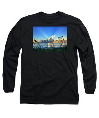 Blue Glow Long Sleeve T-Shirt