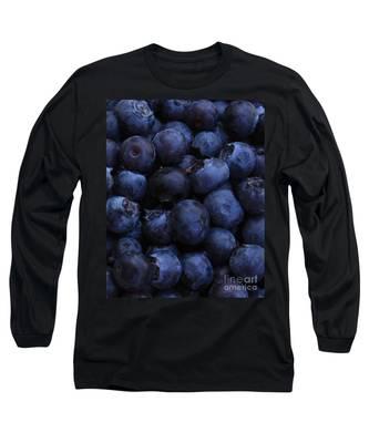 Blueberries Close-up - Vertical Long Sleeve T-Shirt