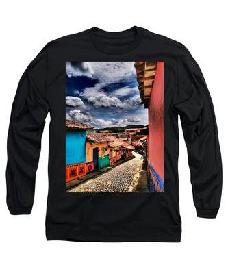 Long Sleeve T-Shirt featuring the photograph Calle De Colores by Skip Hunt