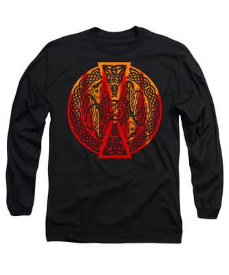 Celtic Dragons Fire Long Sleeve T-Shirt