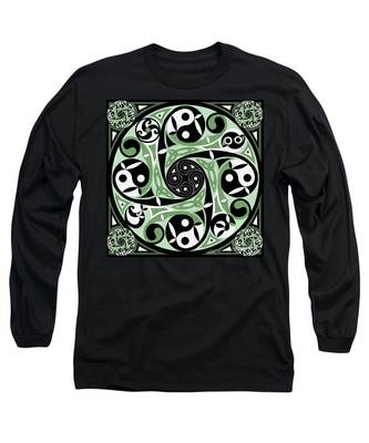 Celtic Spiral Stepping Stone Long Sleeve T-Shirt