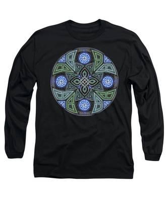 Celtic Ufo Mandala Long Sleeve T-Shirt