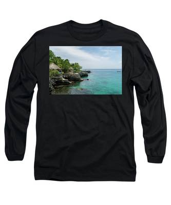 The Cliffs Of Negril Long Sleeve T-Shirt