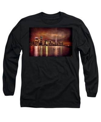 Downtown Manhattan September Eleventh Long Sleeve T-Shirt