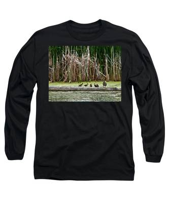 Ducks All In A Row Long Sleeve T-Shirt