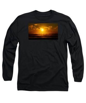 Foggy Gold Sunrise Long Sleeve T-Shirt