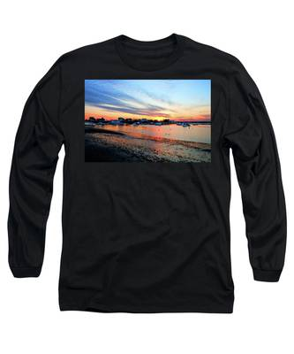 Harbor Sunset At Low Tide Long Sleeve T-Shirt