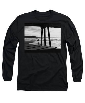 Hermosa Surfer Under Pier Long Sleeve T-Shirt