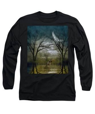 Heron By Moon Glow  Long Sleeve T-Shirt