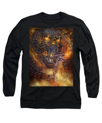 Lady And Skull Long Sleeve T-Shirt