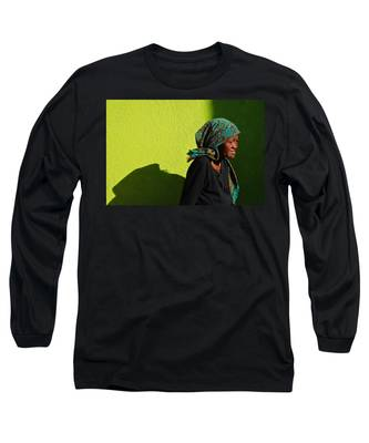 Long Sleeve T-Shirt featuring the photograph Lady In Green by Skip Hunt