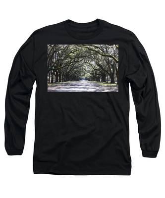 Live Oak Lane In Savannah Long Sleeve T-Shirt