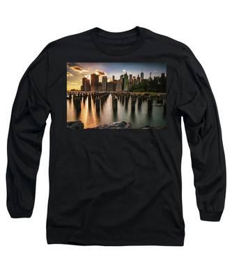 Lower Manhattan Sunset Twinkle Long Sleeve T-Shirt