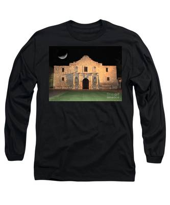 Moon Over The Alamo Long Sleeve T-Shirt