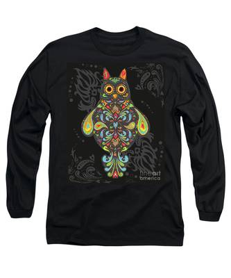 Paisley Owl Long Sleeve T-Shirt