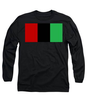 Red Black And Green Long Sleeve T-Shirt