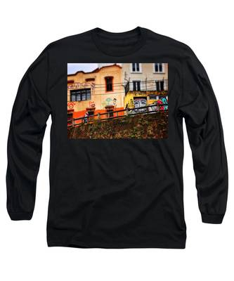 Long Sleeve T-Shirt featuring the photograph Saks by Skip Hunt