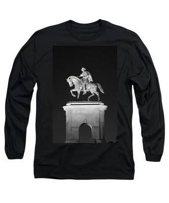 Sam Houston - Black And White Long Sleeve T-Shirt