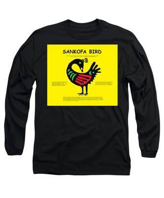 Sankofa Bird Of Knowledge Long Sleeve T-Shirt