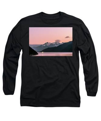 Sunset In Alaska Long Sleeve T-Shirt