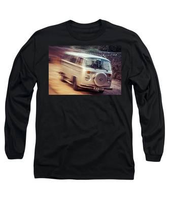Vw Camper On A Kodak Moment Long Sleeve T-Shirt