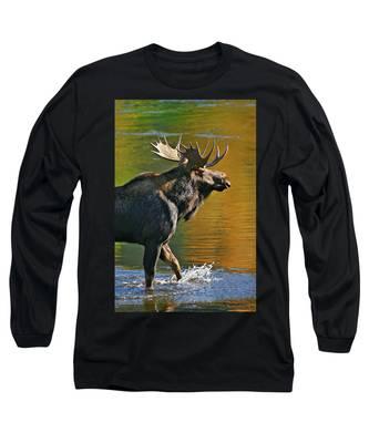 Wading Moose Long Sleeve T-Shirt