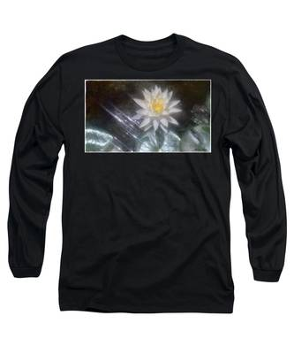 Water Lily In Sunlight Long Sleeve T-Shirt