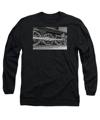 Wheels On A Locomotive Long Sleeve T-Shirt