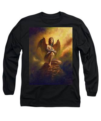 Winged Vamp Long Sleeve T-Shirt
