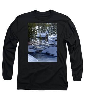 Winter Cottage Long Sleeve T-Shirt