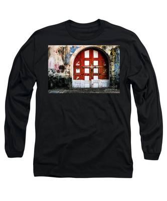 Doors Of India - Garage Door Long Sleeve T-Shirt