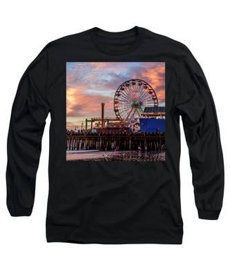 Ferris Wheel On The Pier - Square Long Sleeve T-Shirt