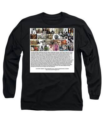 First Native Americans Were Indigo Twa Black Afrikans Long Sleeve T-Shirt