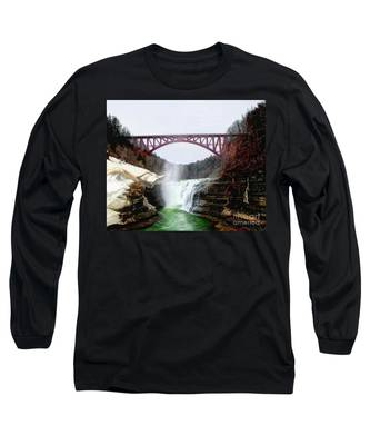 Frletchworth Railroad And Falls Long Sleeve T-Shirt