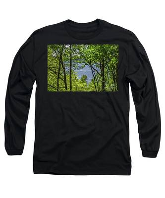 Manistee Lake Through The Trees Long Sleeve T-Shirt