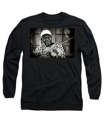New York Street Fiddler Long Sleeve T-Shirt