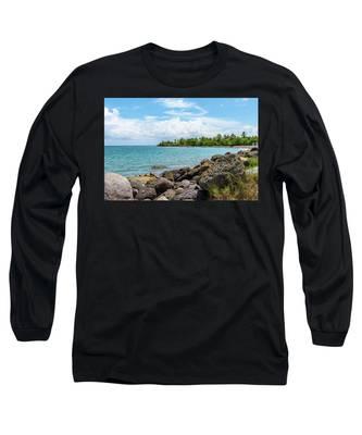 Orange Bay In Portland Jamaica Long Sleeve T-Shirt