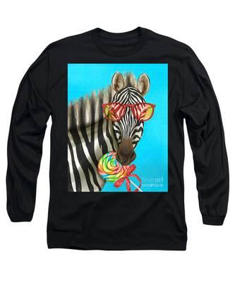 Party Safari Zebra Long Sleeve T-Shirt