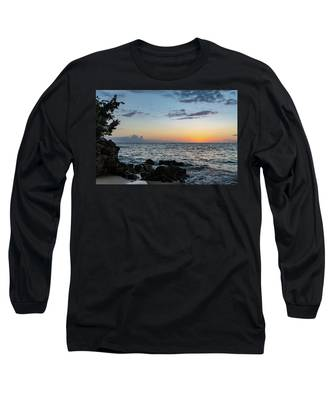 Sunset Afterglow In Negril Jamaica Long Sleeve T-Shirt