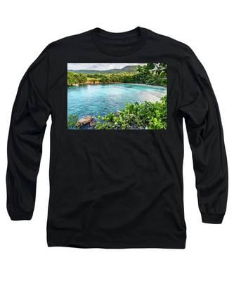 Vantage Views In Portland Jamaica Long Sleeve T-Shirt